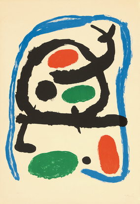 "Miró Joan, Poster for the Miró Exposition at the  ""Musée National d'Art Moderne Paris"",  9th June - 4th November"