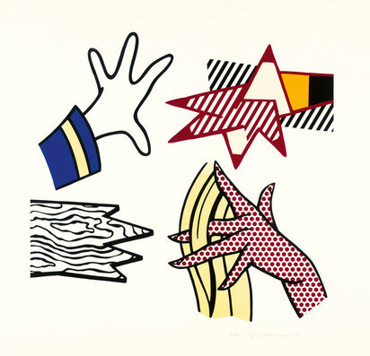 Lichtenstein Roy, Study of Hands