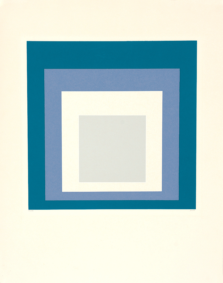 """Albers Josef, Sheet from """"Hommage au Carré"""""""