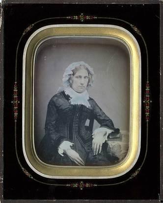 Daguerreotypie, Unknown photographer.  Portrait of a lady