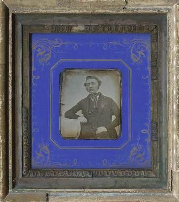 Daguerreotypie, Unknown photographer.  Portrait of a gentleman