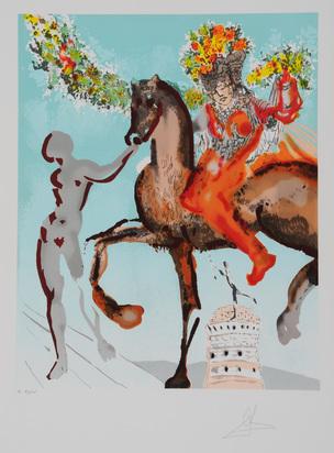 "Dalí Salvador, Pferdeführende Frau,  aus ""Die Liebenden"""