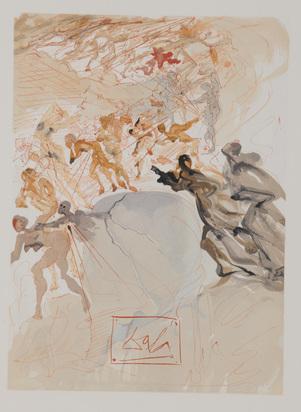 """Dalí Salvador, 14 Blätter aus """"Die Göttliche Komödie (Das Fegefeuer)"""""""