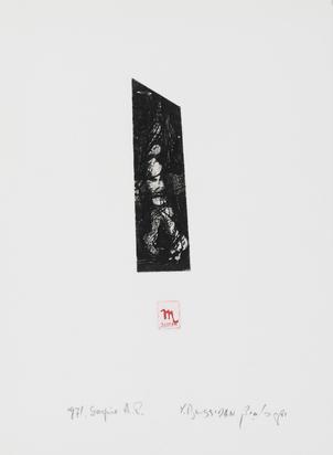 Boussidan Yaakov, 4 sheets:  Object, 1969;  Pisces, 1971;  Cancer, 1971;  Scorpio
