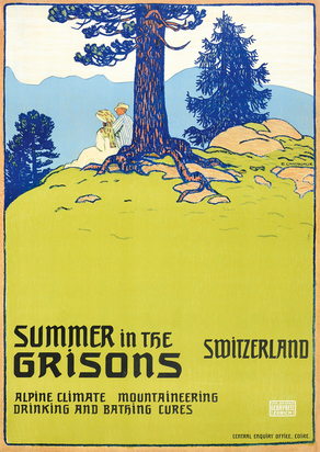 Cardinaux Emil, Summer in the Grisons, Switzerland