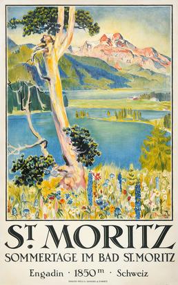 Stiefel Eduard, St. Moritz, Sommertage im Bad St. Moritz
