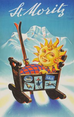 Laubi Hugo, St. Moritz, 1952