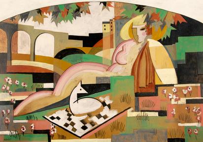 Buchet Gustave, Nu et composition