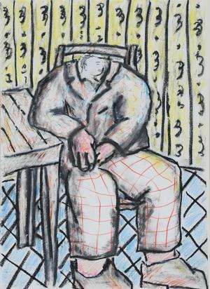 Blais Jean-Charles, Homme assis