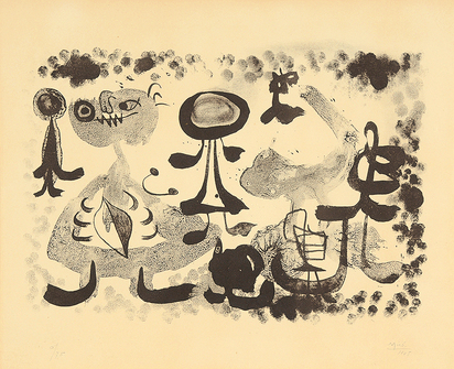 "Miró Joan, Sheet from ""Album 13"""