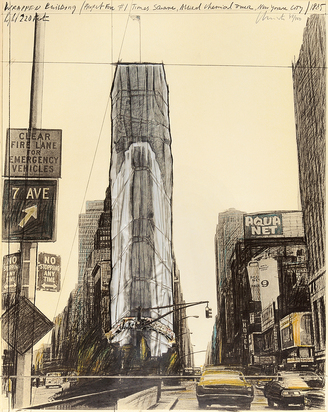 Christo, Wrapped Building, Project for 1 Times Square, New York