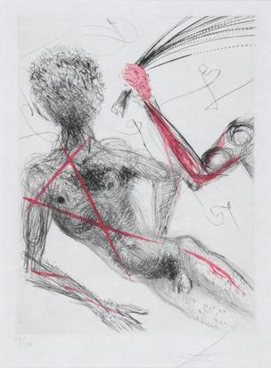 """Dalí Salvador, Allée des verges, from """"Vénus aux fourrures"""" simultanés, ses modes"""""""