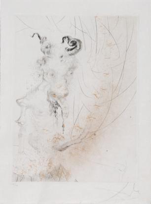 """Dalí Salvador, Tête de veau, from """"Faust (La Nuit de Walpurgis)"""""""