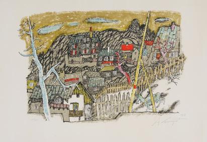 Carigiet Alois, Dorf in den Felsen