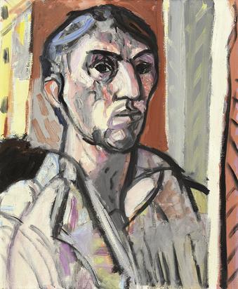 Gubler Max, Selbstporträt, ca. 1949/50