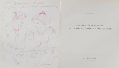 Erni Hans, 3 Books: Jean Gabus. Les fresques de Hans Erni ou la part du peintre en ethnographie