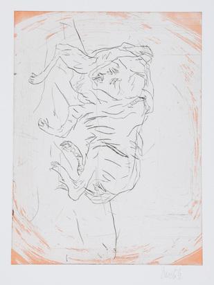 "Baselitz Georg, Goliath, from ""Schlafende Hunde"""