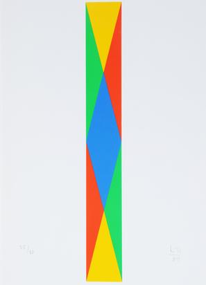 """Bill Max, 4 sheets from """"Vier quantengleiche Variationen aus blau und gelb wird rot und grün"""""""