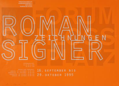 Ausstellungsplakate, 11 Plakate: G. Richter; J. Bill;  N. Vital; R. Trockel; S. Leverkühne; S. Brignoni; S. Berger-Teichmann; R. Signer (2); A. Rainer (2)