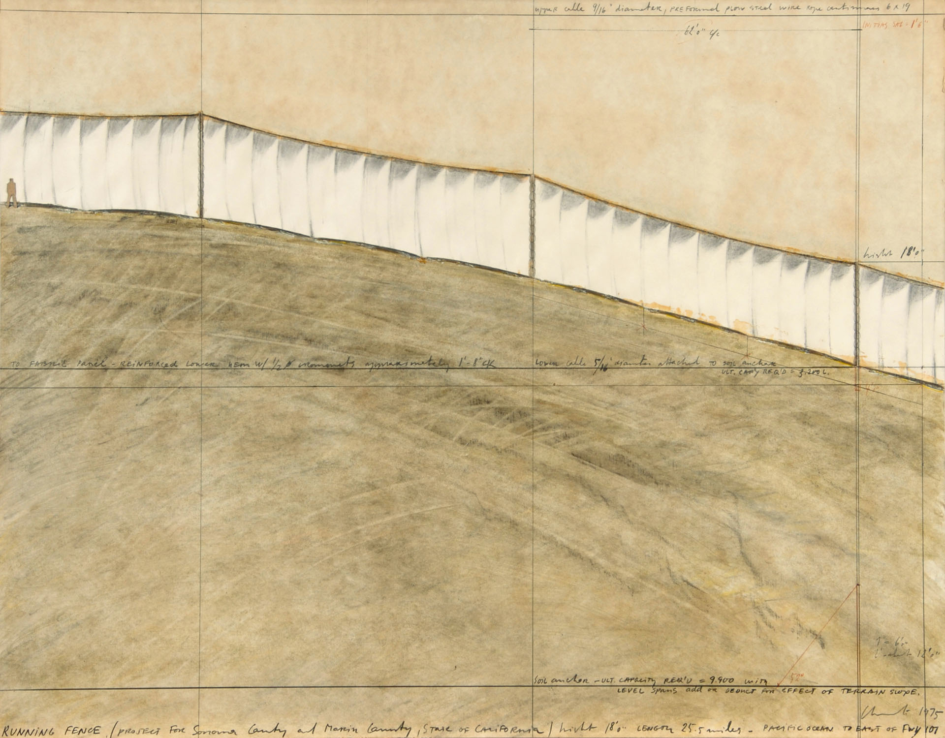 Christo, Running Fence (Project for Sonoma and Marin Counties, State of California)