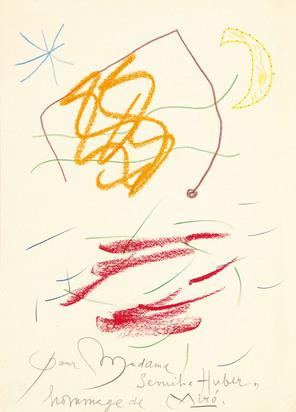 Miró Joan, Pour Madame Semiha Huber