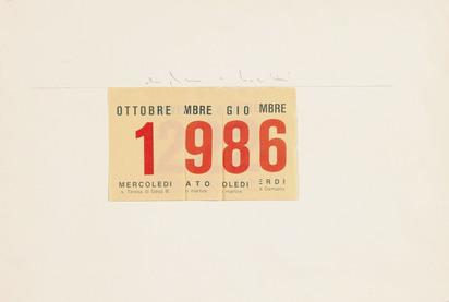 Boetti Alighiero, Calendario