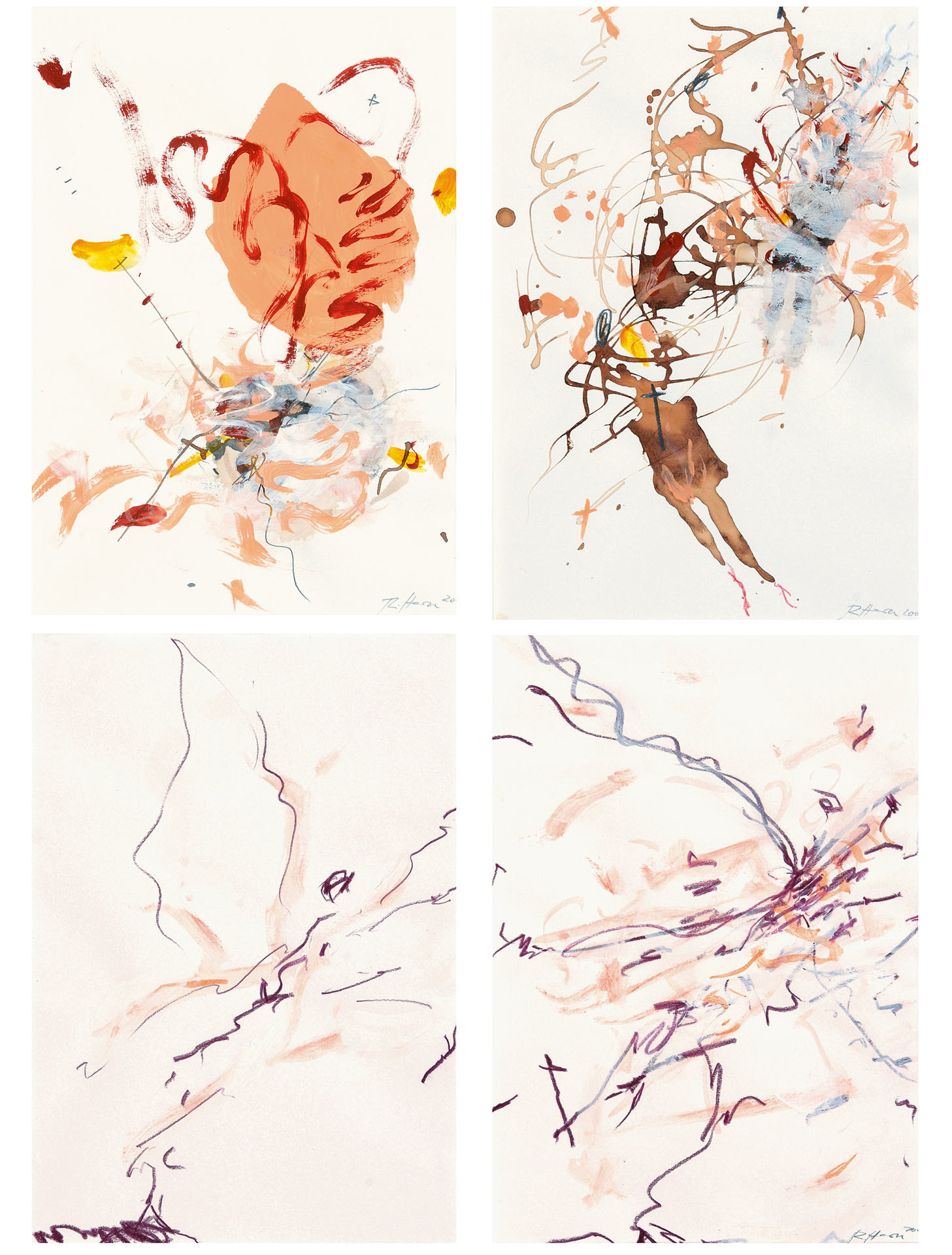 Horn Rebecca, 4 sheets: Engel 1; Engel 2; Untitled (2)