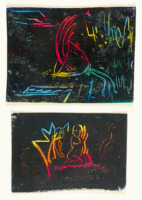 Weiss David, Two works: Untitled, 1978; Zwei Frauenakte