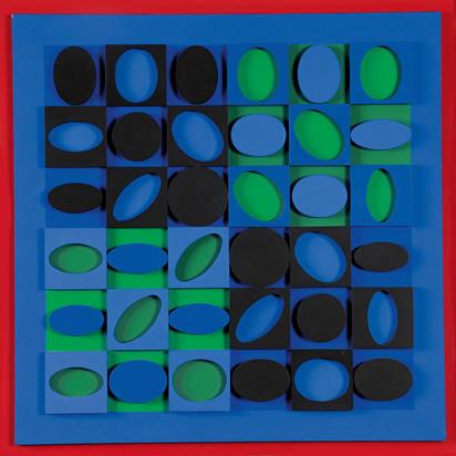 Vasarely Victor, Noir-Vert-Bleu
