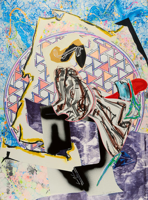 """Stella Frank, The Great Heidelburgh Tun, 1988, from """"The Waves"""""""