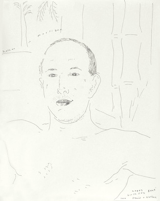 Hockney David, Nathan in Mustique