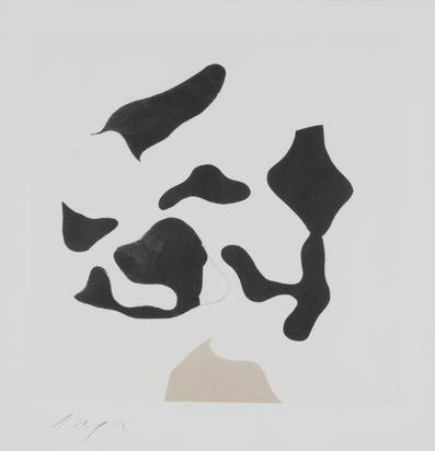 Arp Jean, Composition brun et noir