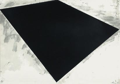 Serra Richard, Untitled (or Philip Glass Poster)