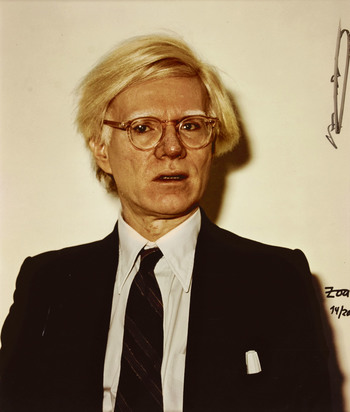 Zoa, 3 photographs: Andy Warhol