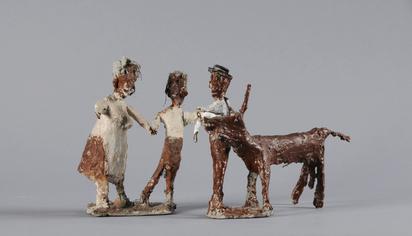 Bleiker Ulrich, 2 sculptures: Bauernpaar; Bauer mit Ochse