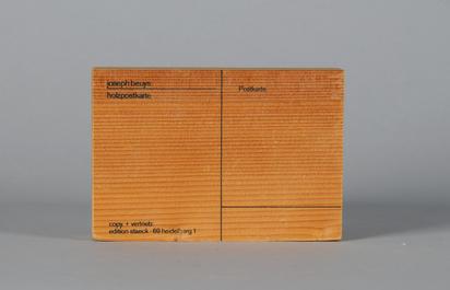 Beuys Joseph, Holzpostkarte