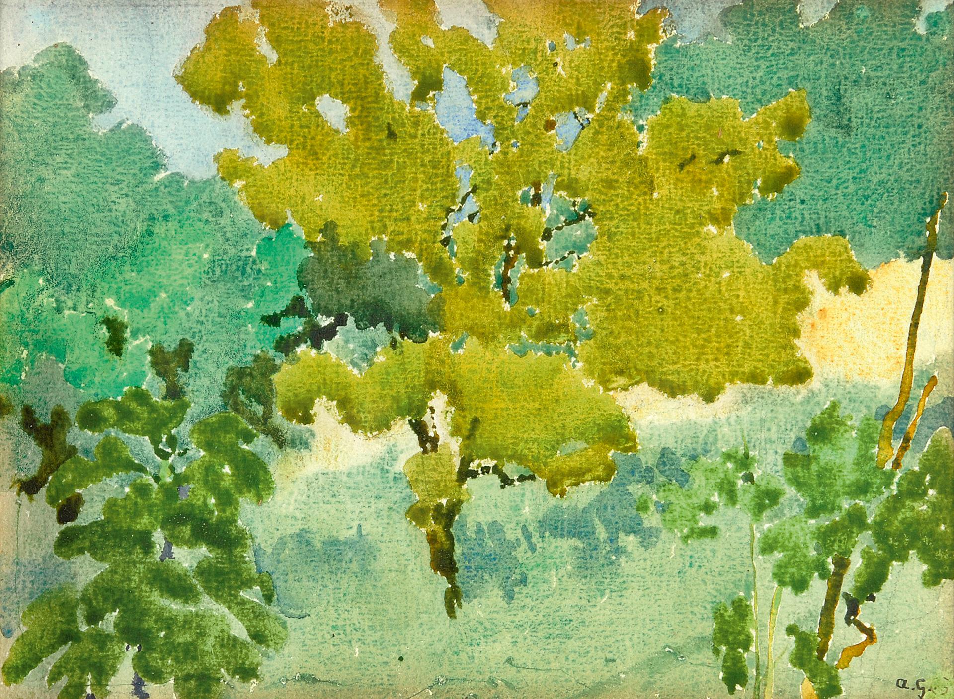 Augusto Giacometti, Toscanische Landschaft
