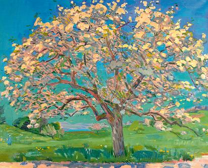 Usterapfelbaum im Blust