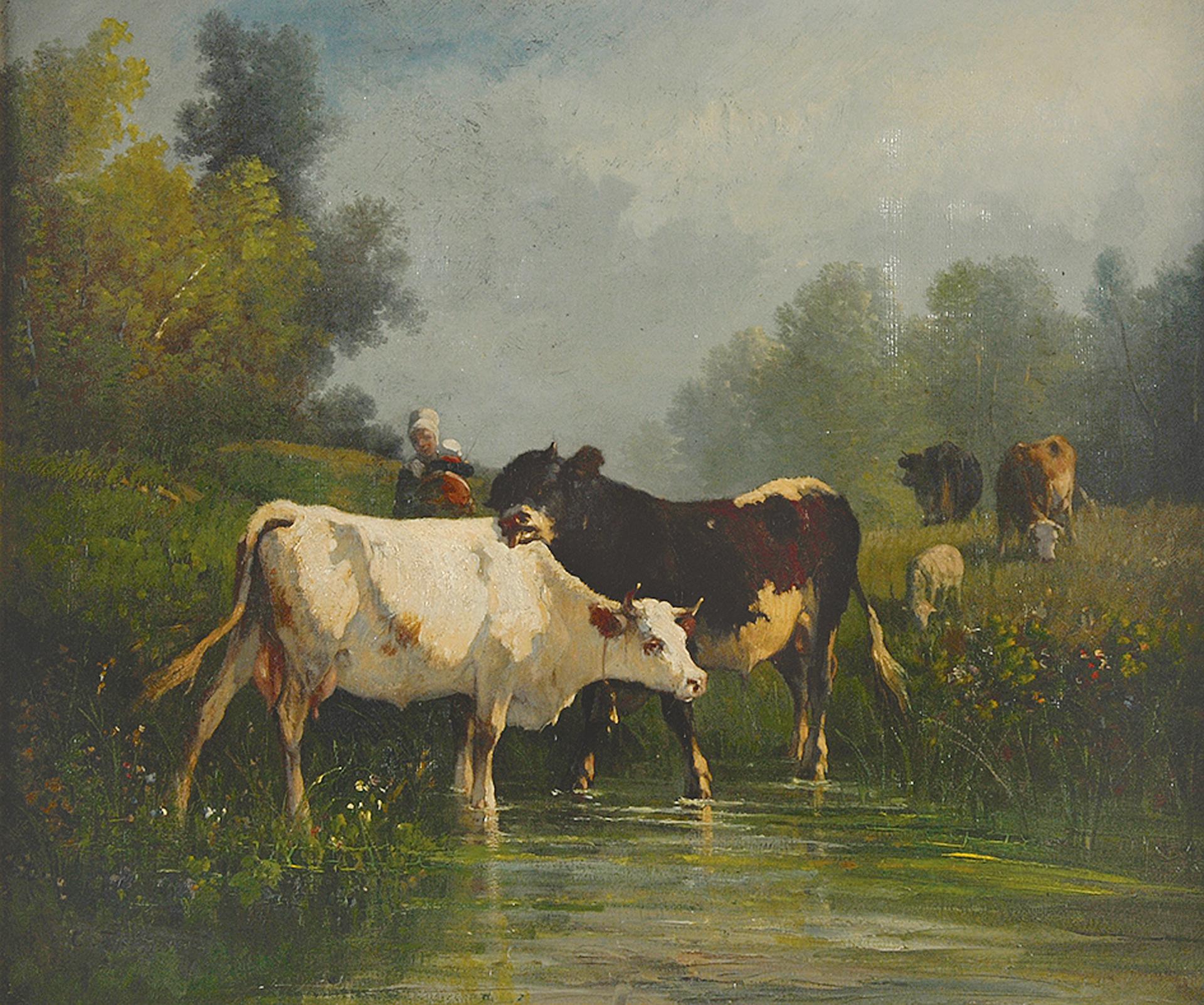 Constant Troyon, Vaches s'apreuvant