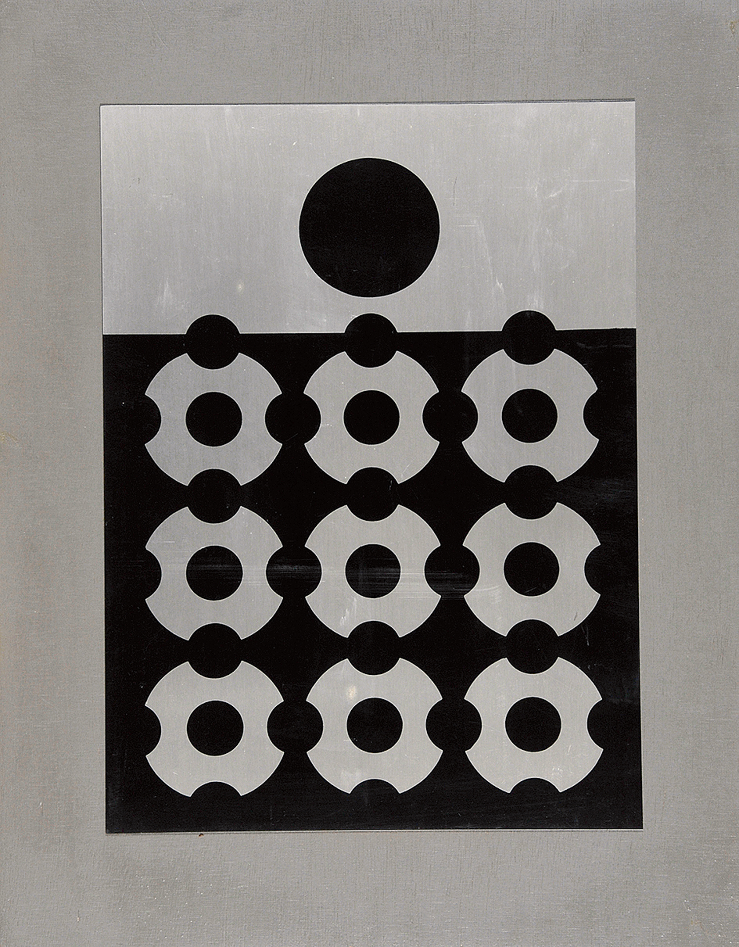 Victor Vasarely, Weiss auf schwarzem Grund