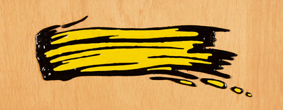 Lichtenstein Roy, Brushstroke