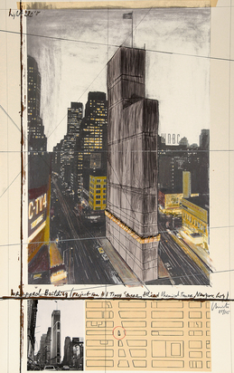 Christo, Wrapped Building (Project for 1 Times Square, Allied Chemical Tower, New York)