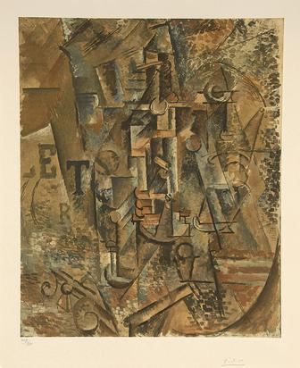 Picasso Pablo, after. La bouteille de Rhum