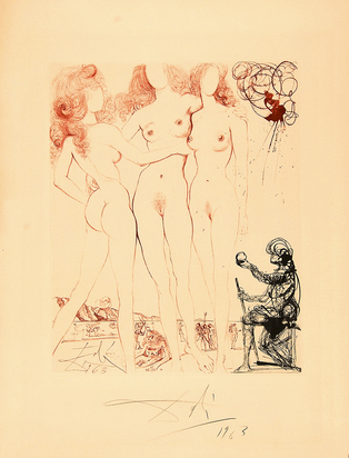 "Dalí Salvador, Urteil des Paris, from ""Mythologie"""