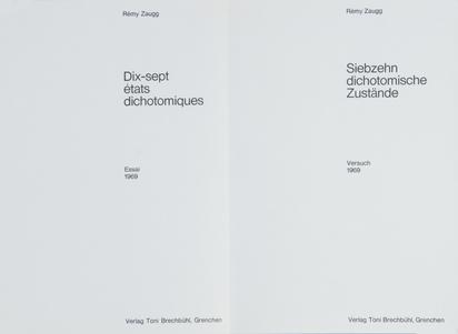 Zaugg Rémy, Mappe. Siebzehn dichotomische Zustände