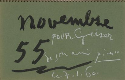 Picasso Pablo, Buch. Carnet de la Californie