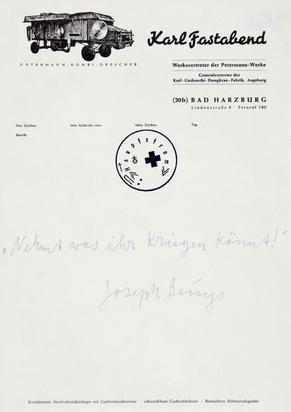 Beuys Joseph, Nehmt was ihr kriegen könnt