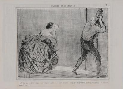 """Daumier Honoré, Ohne Titel; 19 Blätter aus """"Charivari"""""""