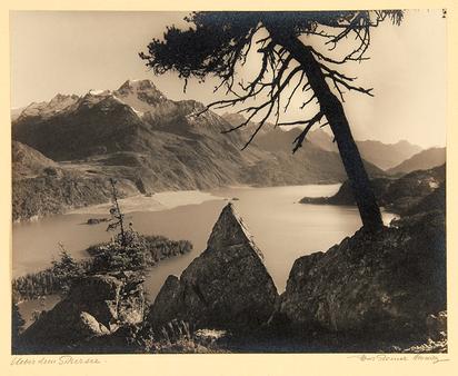 Steiner Albert, Landschaft über dem Silsersee. Oberengadin