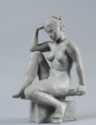 Bänninger Otto Charles, Sitzender Frauenakt